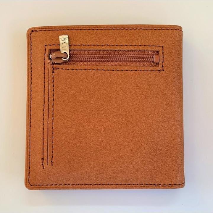 カードがたくさん入るのに薄い手の平財布 小銭入れ付き BS06 キャメル_0