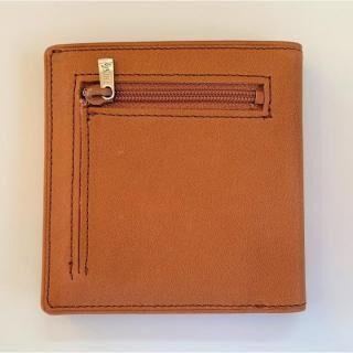 カードがたくさん入るのに薄い手の平財布 小銭入れ付き BS06 キャメル