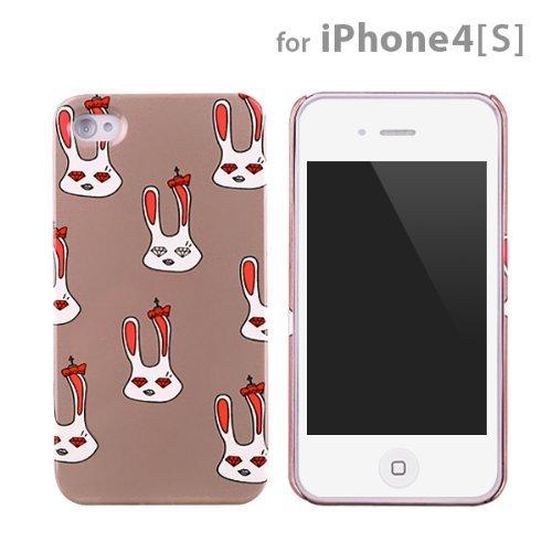 【50%OFF】icover Royal family シリーズ Lapin グレー iPhone4s/4用ケース