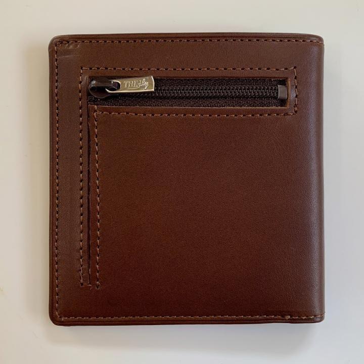 カードがたくさん入るのに薄い手の平財布 小銭入れ付き BS06 チョコ_0