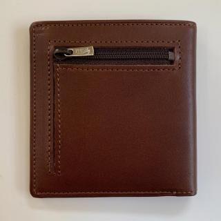 カードがたくさん入るのに薄い手の平財布 小銭入れ付き BS06 チョコ