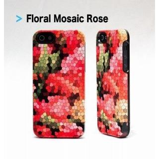 【iPhone SE/5s/5ケース】UN Uncommon Floral Mosaic Rose iPhone SE/5s/5 ケース