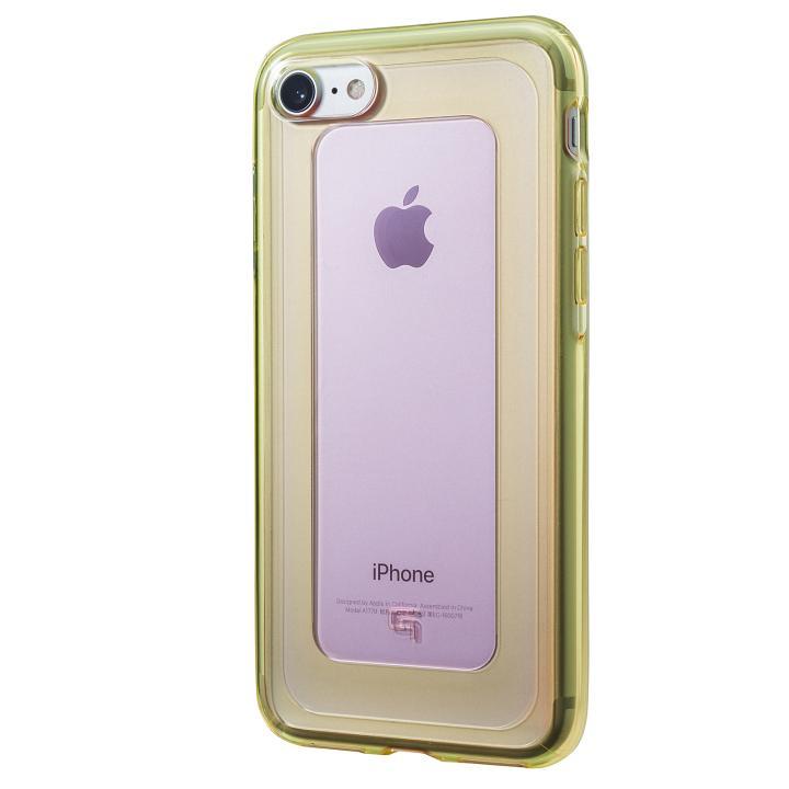 iPhone8/7 ケース GRAMAS COLORS GEMS ハイブリッドケース ローズクォーツ ライトピンク/ライムグリーン iPhone 8/7_0