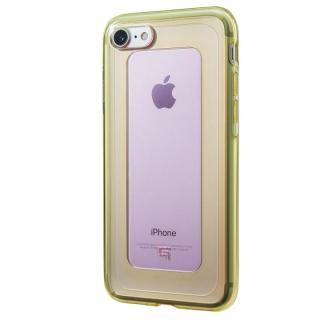 GRAMAS COLORS GEMS ハイブリッドケース ローズクォーツ ライトピンク/ライムグリーン iPhone 7