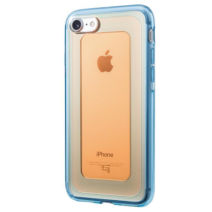iPhone8/7 ケース GRAMAS COLORS GEMS ハイブリッドケース ガーネット オレンジ/ブルー iPhone 8/7_0