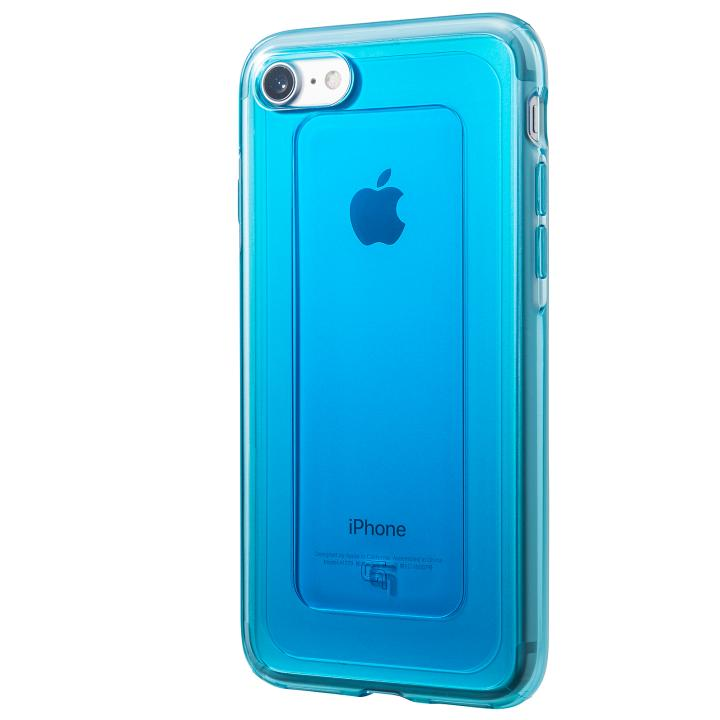 iPhone8/7 ケース GRAMAS COLORS GEMS ハイブリッドケース ターコイズブルー iPhone 8/7_0