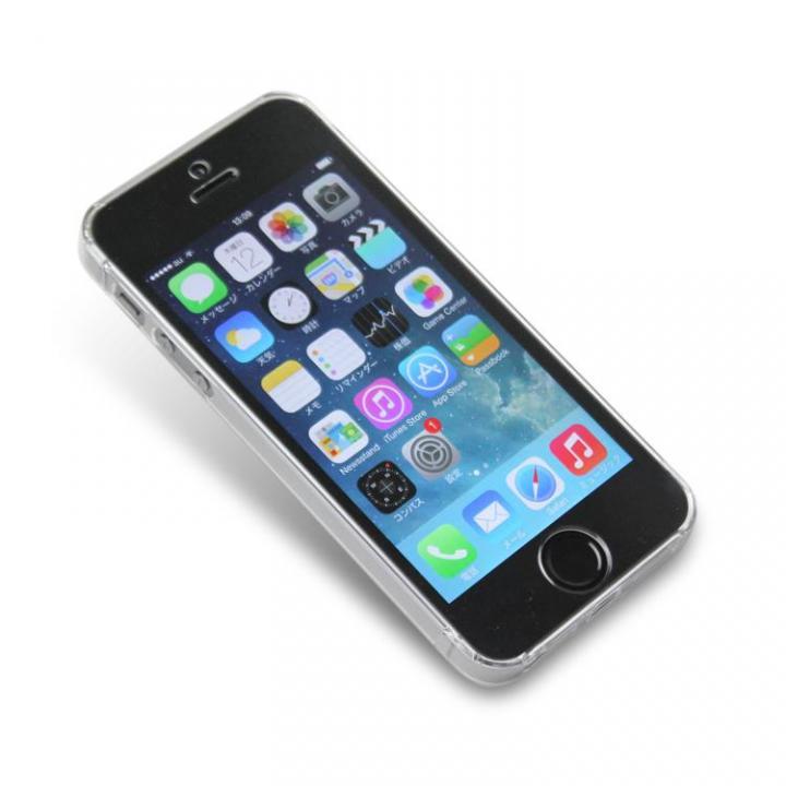 iPhone SE/5s/5 ケース 導電性クリスタルケース  iPhone SE/5s/5(クリア)_0