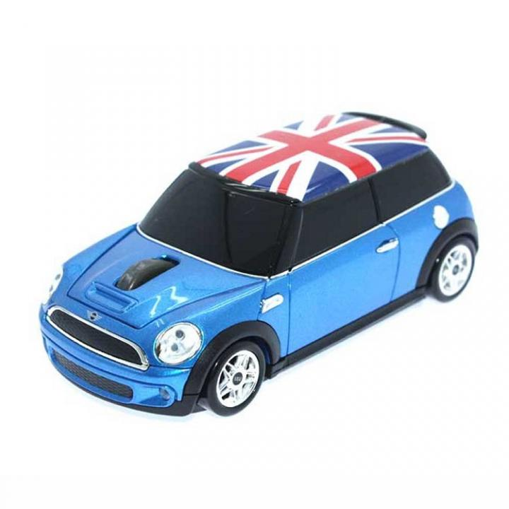 ミニクーパー Union Flag 無線マウス 2.4G ブルー_0