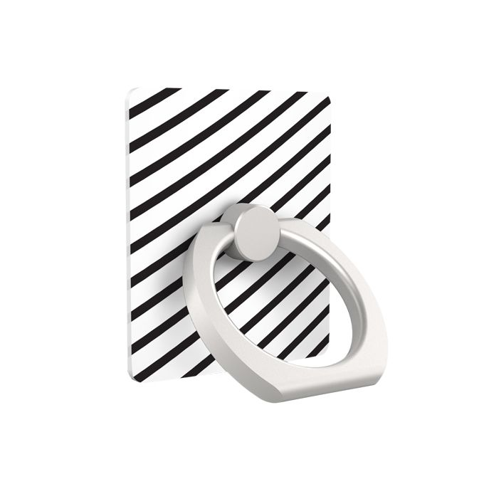 iRing アイリング スマホリング iPhone落下防止リング&スタンド ブラックストライプ_0