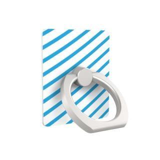 iRing アイリング iPhone落下防止リング&スタンド ブルーストライプ