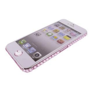 iPhone SE/5s/5 ケース iPhone SE/5s/5 デコラップ ストーンピンク