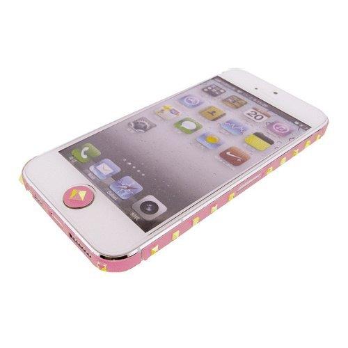 iPhone SE/5s/5 ケース iPhone SE/5s/5 デコラップ スタッズピンク_0