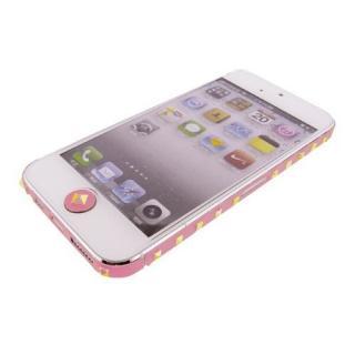 iPhone SE/5s/5 ケース iPhone SE/5s/5 デコラップ スタッズピンク