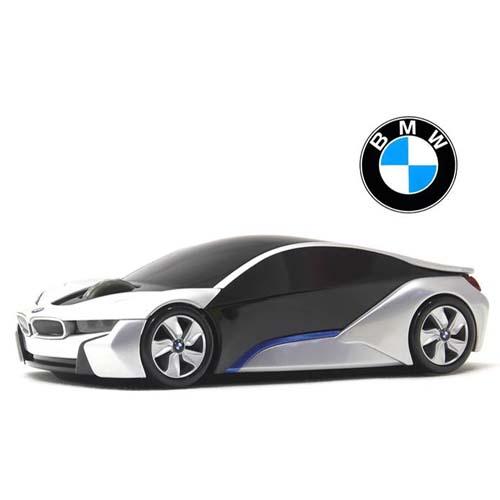 BMW i8 CONCEPT 無線カーマウス 2.4Ghz 1750dpi シルバー BM-i8-SL_0