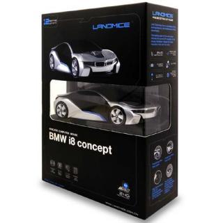 BMW i8 CONCEPT 無線カーマウス 2.4Ghz 1750dpi シルバー BM-i8-SL_1