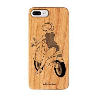 iPhone8 Plus/7 Plus ケース ボブa.k.aえんちゃん ウッドケース LITTLE RIDER iPhone 8 Plus/7 Plus/6s Plus/6 Plus