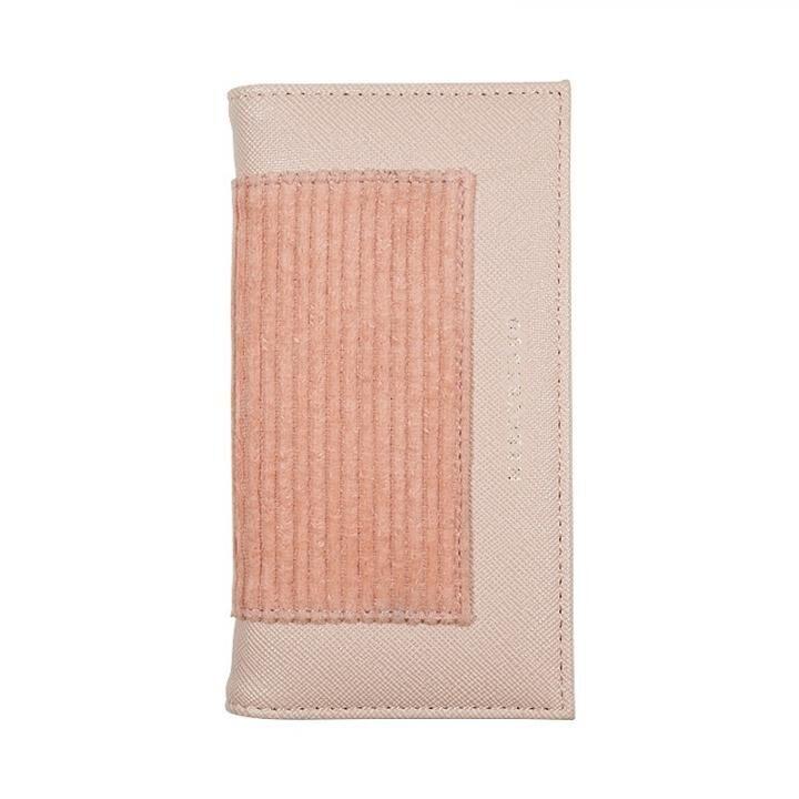 【iPhone8/7/6s/6ケース】MERCURYDUO CORDUROY TWO TONE 手帳型ケース ピンク iPhone 8/7/6s/6_0