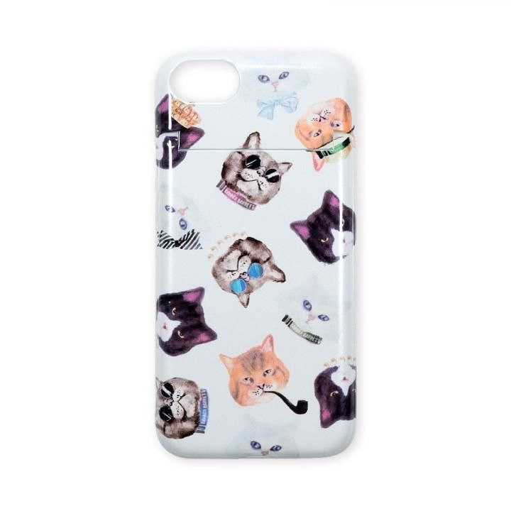 iPhone8/7 ケース BANNER BARRETT ミラーケース GANGSTER CAT WHITE iPhone 8/7_0