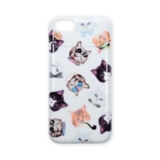 iPhone8/7 ケース BANNER BARRETT ミラーケース GANGSTER CAT WHITE iPhone 8/7