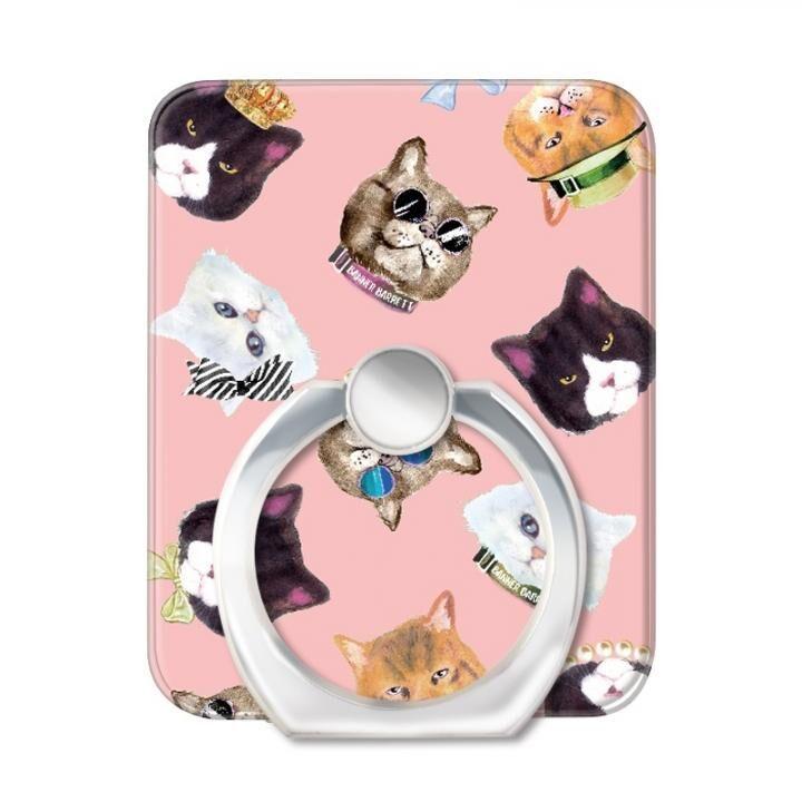 BANNER BARRETT スマートフォンリング GANGSTER CAT PINK_0
