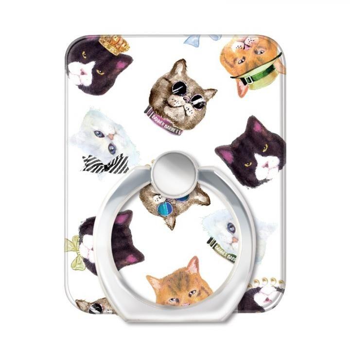 BANNER BARRETT スマートフォンリング GANGSTER CAT WHITE_0