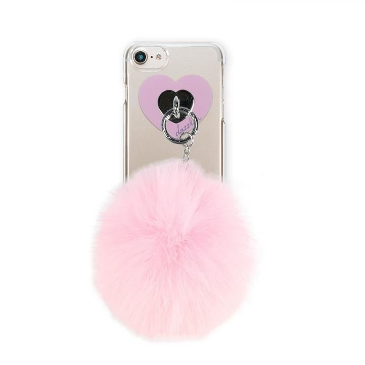 iPhone8/7/6s/6 ケース dazzlin FUR クリアケース  CHERRY PINK iPhone 8/7/6s/6_0