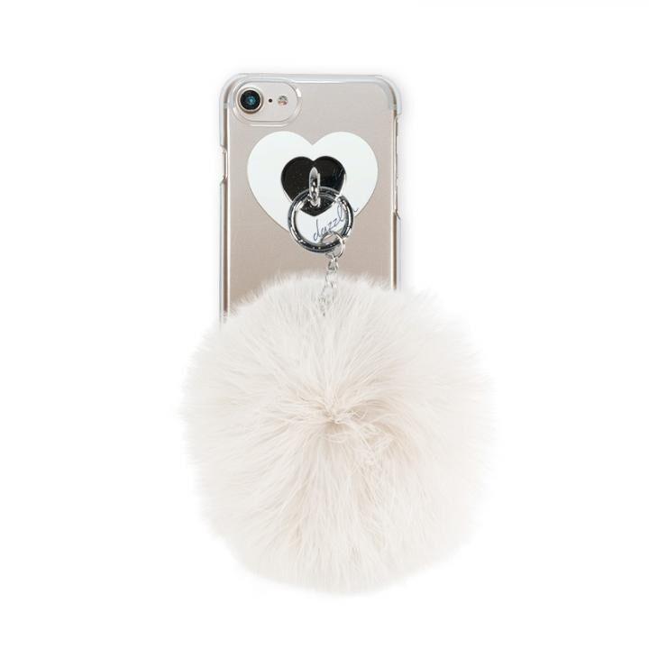 iPhone8/7/6s/6 ケース dazzlin FUR クリアケース  CREAM WHITE iPhone 8/7/6s/6_0