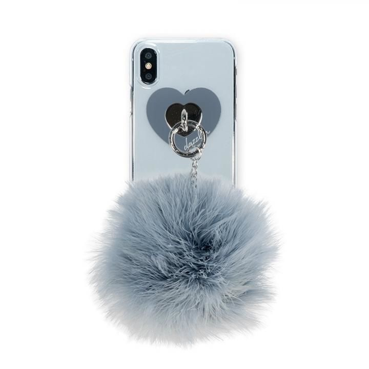 iPhone XS/X ケース dazzlin FUR クリアケース  VINTAGE GRAY iPhone XS/X_0
