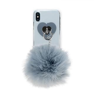 iPhone XS/X ケース dazzlin FUR クリアケース  VINTAGE GRAY iPhone XS/X