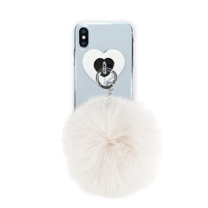 iPhone XS/X ケース dazzlin FUR クリアケース  CREAM WHITE iPhone XS/X_0