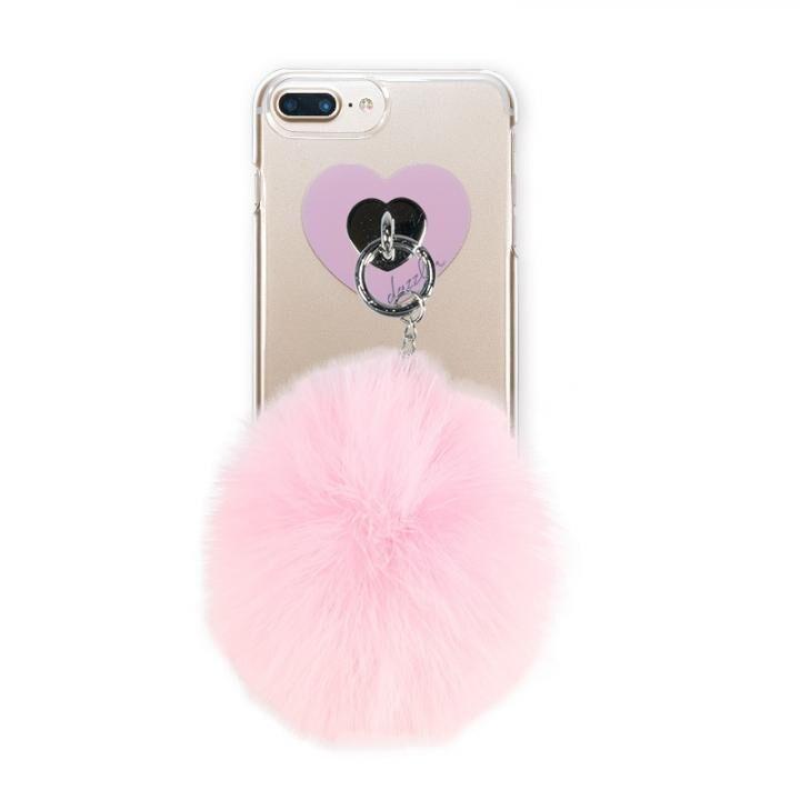 iPhone8 Plus/7 Plus ケース dazzlin FUR クリアケース  CHERRY PINK iPhone 8 Plus/7 Plus/6s Plus/6 Plus_0