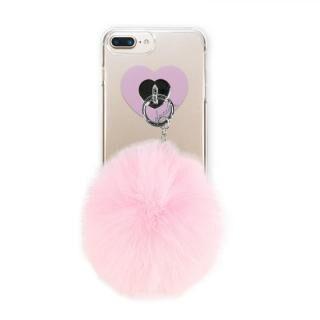 【iPhone8 Plus/7 Plusケース】dazzlin FUR クリアケース  CHERRY PINK iPhone 8 Plus/7 Plus/6s Plus/6 Plus