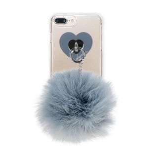 【iPhone8 Plus/7 Plusケース】dazzlin FUR クリアケース  VINTAGE GRAY iPhone 8 Plus/7 Plus/6s Plus/6 Plus