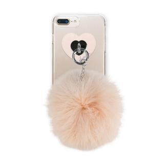 【iPhone8 Plus/7 Plusケース】dazzlin FUR クリアケース  LATTE BEIGE iPhone 8 Plus/7 Plus/6s Plus/6 Plus