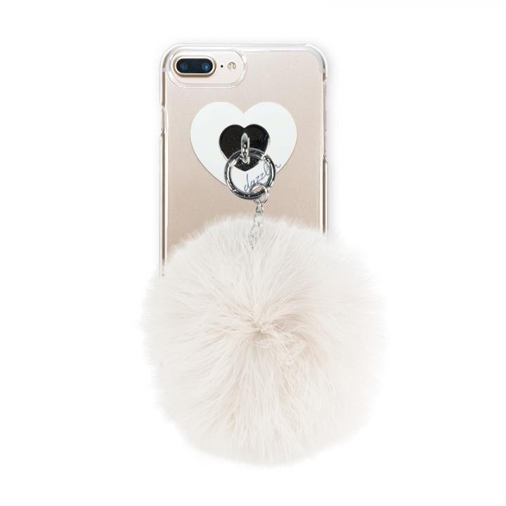 iPhone8 Plus/7 Plus ケース dazzlin FUR クリアケース  CREAM WHITE iPhone 8 Plus/7 Plus/6s Plus/6 Plus_0
