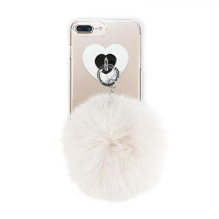 【iPhone8 Plus/7 Plusケース】dazzlin FUR クリアケース  CREAM WHITE iPhone 8 Plus/7 Plus/6s Plus/6 Plus