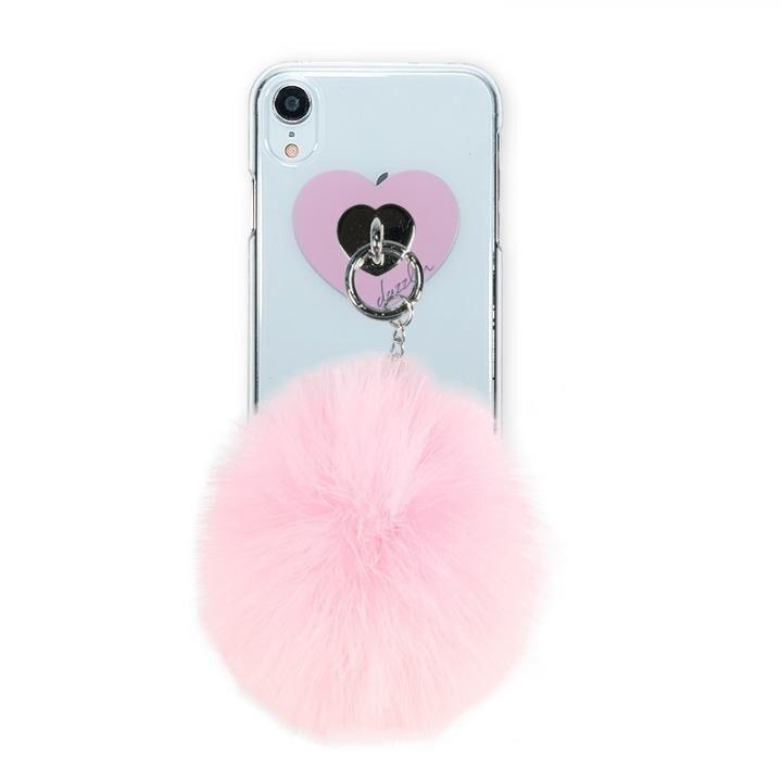iPhone XR ケース dazzlin FUR クリアケース  CHERRY PINK iPhone XR_0