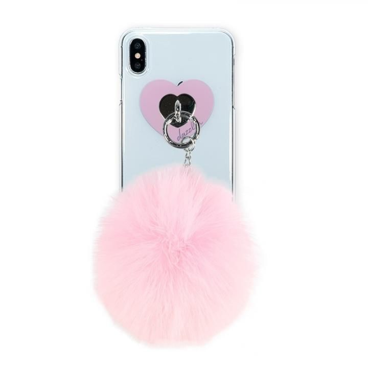 iPhone XS Max ケース dazzlin FUR クリアケース  CHERRY PINK  iPhone XS Max_0