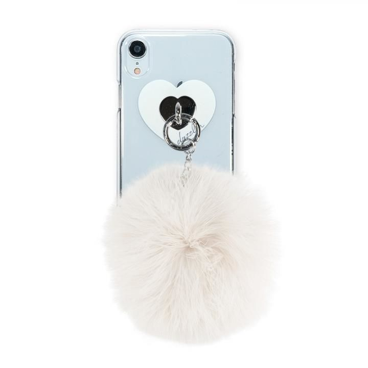 iPhone XR ケース dazzlin FUR クリアケース  CREAM WHITE iPhone XR_0