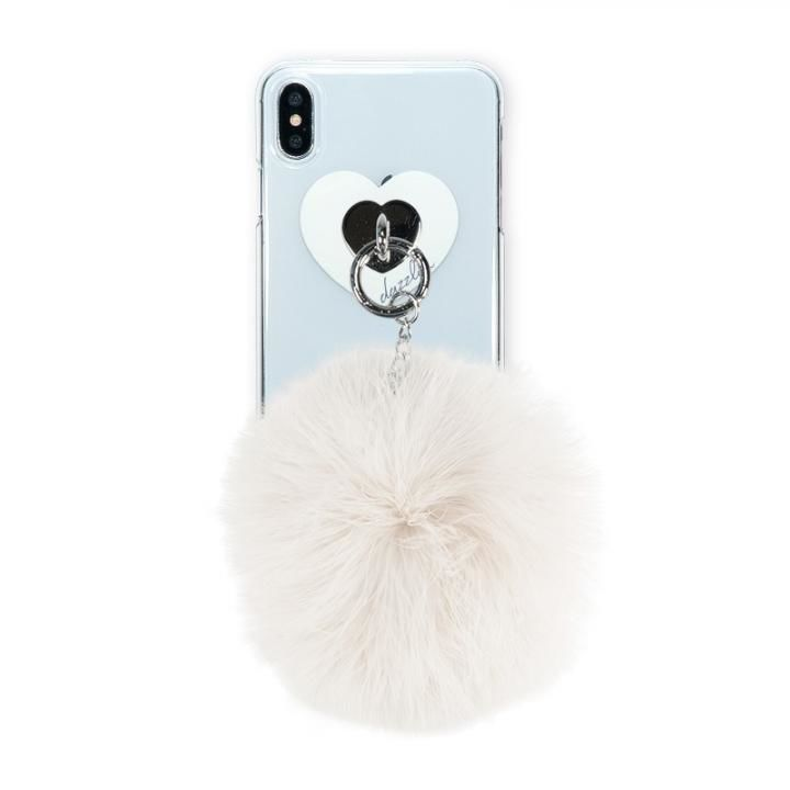 iPhone XS Max ケース dazzlin FUR クリアケース  CREAM WHITE iPhone XS Max_0