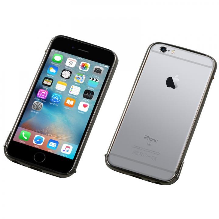iPhone6s/6 ケース Deff ステンレススチールバンパー Polish ブラック iPhone 6s/6_0