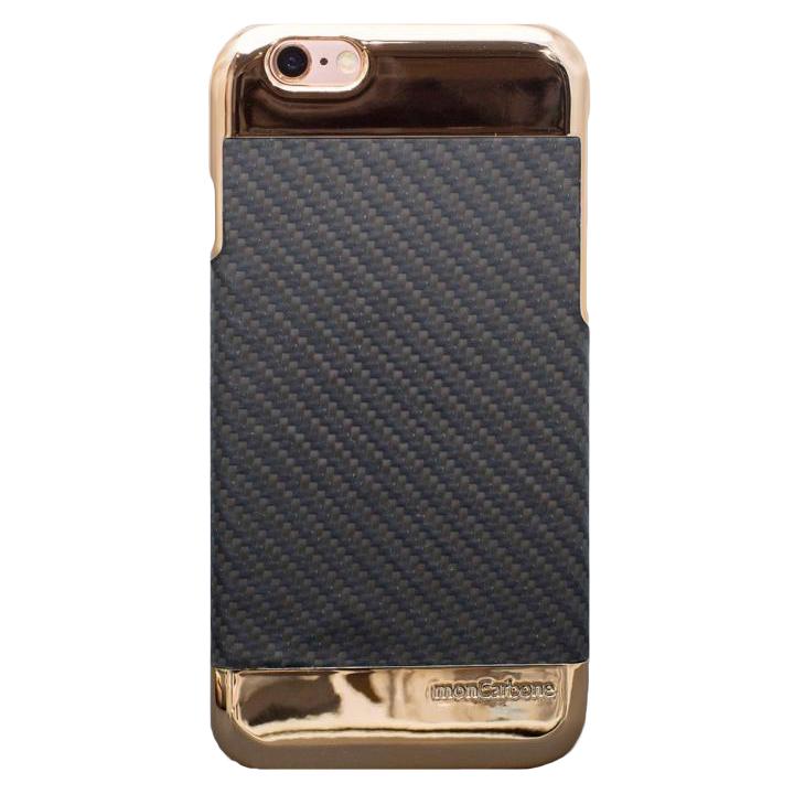 iPhone6s/6 ケース Deff monCarbone Curve ローズゴールド/ブラック iPhone 6s/6_0