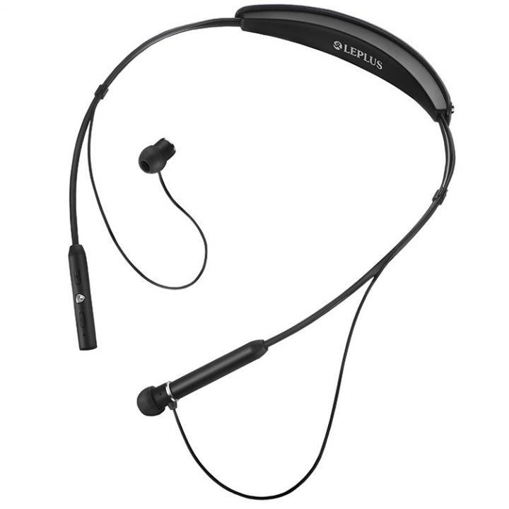 ワイヤレスネックバンドイヤフォン(ボリューム/マイク付)「極の音域 Fly Wear(フライ ウェア)」 ブラック
