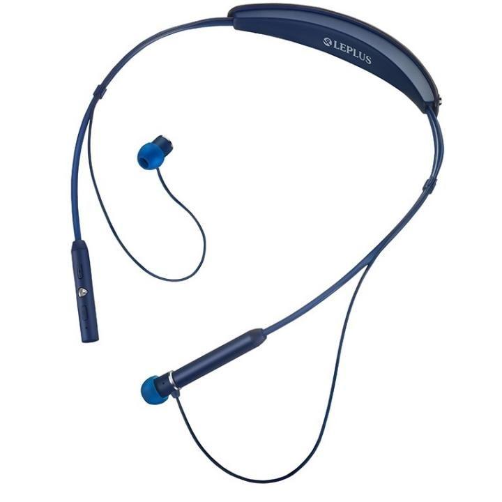 ワイヤレスネックバンドイヤフォン(ボリューム/マイク付)「極の音域 Fly Wear(フライ ウェア)」 ネイビー