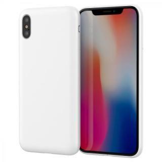 iPhone X ケース MYNUS ケース マットホワイト iPhone X