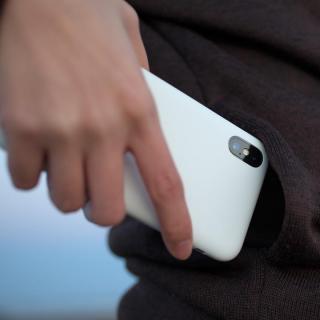 【iPhone Xケース】MYNUS ケース マットホワイト iPhone X_5
