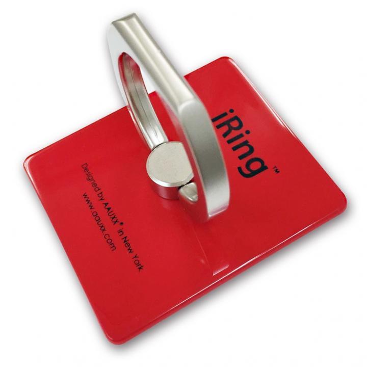 iRing アイリング スマホリング iPhone落下防止リング&スタンド レッド_0