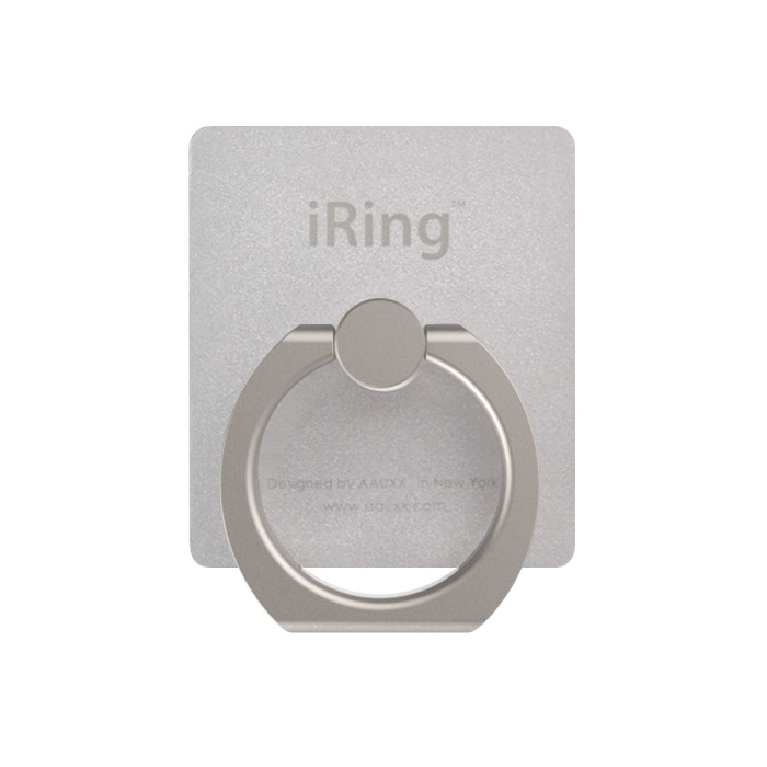 iRing アイリング スマホリング iPhone落下防止リング&スタンド シルバー_0