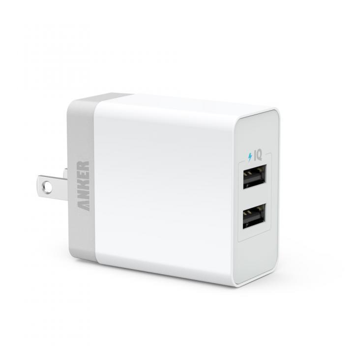 Anker 20W 2ポート USB急速充電器 PowerIQ搭載 ホワイト