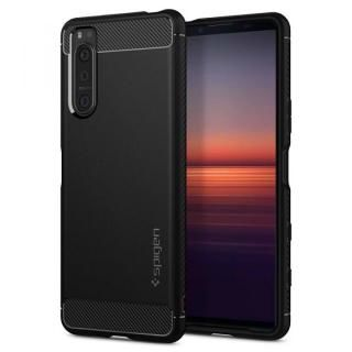 Xperia 5 II Rugged Armor Matte Black Strap Hole